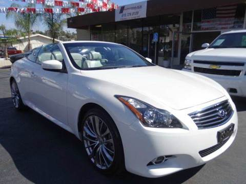 2012 Infiniti G37 Convertible for sale at Automaxx Of San Diego in Spring Valley CA