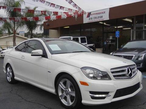 2012 Mercedes-Benz C-Class for sale at Automaxx Of San Diego in Spring Valley CA