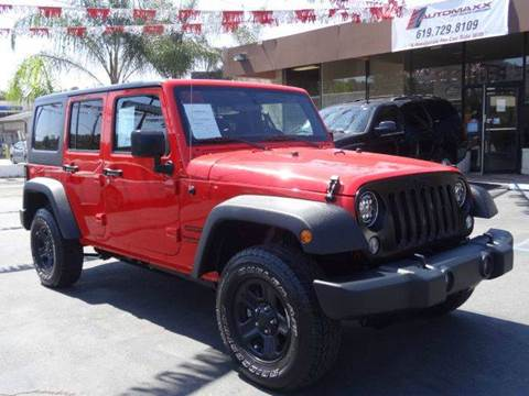 2016 Jeep Wrangler Unlimited for sale at Automaxx Of San Diego in Spring Valley CA