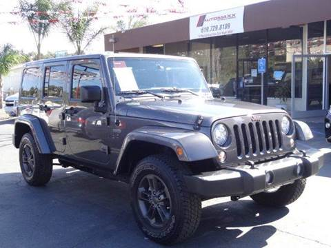 2017 Jeep Wrangler Unlimited for sale at Automaxx Of San Diego in Spring Valley CA