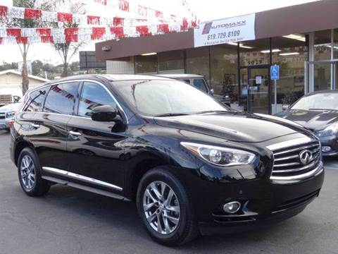 2013 Infiniti JX35 for sale at Automaxx Of San Diego in Spring Valley CA