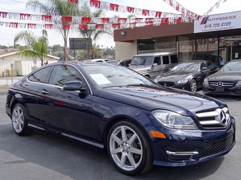 2013 Mercedes-Benz C-Class for sale at Automaxx Of San Diego in Spring Valley CA