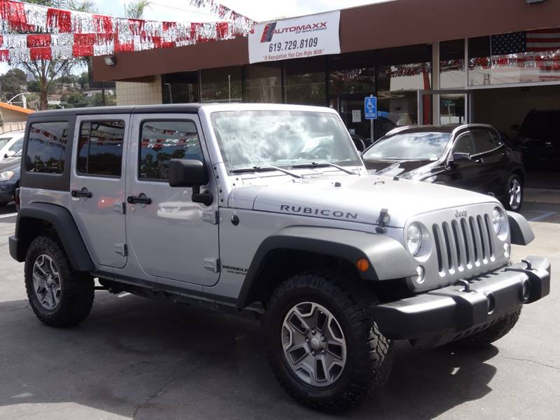 2016 jeep wrangler unlimited 4x4 rubicon 4dr suv in spring valley ca automaxx of san diego. Black Bedroom Furniture Sets. Home Design Ideas