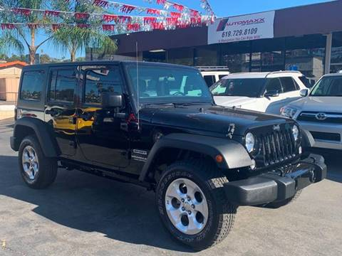 2016 Jeep Wrangler Unlimited for sale in Spring Valley, CA
