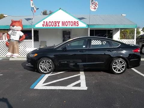 2017 Ford Fusion Hybrid for sale at Jacoby Motors in Fort Myers FL