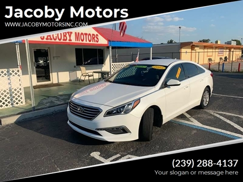2015 Hyundai Sonata SE for sale at Jacoby Motors in Fort Myers FL