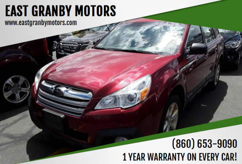 2014 Subaru Outback 2.5i for sale at EAST GRANBY MOTORS in East Granby CT