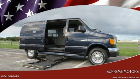 2003 Ford E-Series Chassis for sale in Boca Raton, FL
