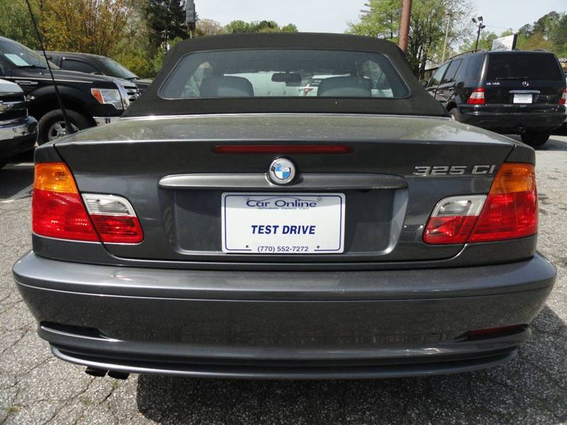 2001 Bmw 3 Series 325Ci 2dr Convertible In Roswell GA