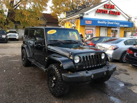 2007 Jeep Wrangler Unlimited for sale at C & M Auto Sales in Detroit MI