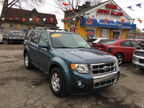 2010 Ford Escape for sale at C & M Auto Sales in Detroit MI