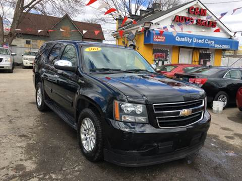 2011 Chevrolet Tahoe Hybrid for sale at C & M Auto Sales in Detroit MI
