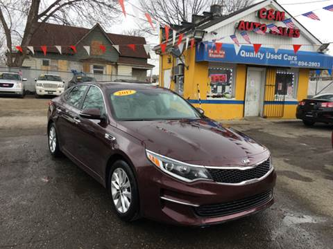 2017 Kia Optima for sale at C & M Auto Sales in Detroit MI