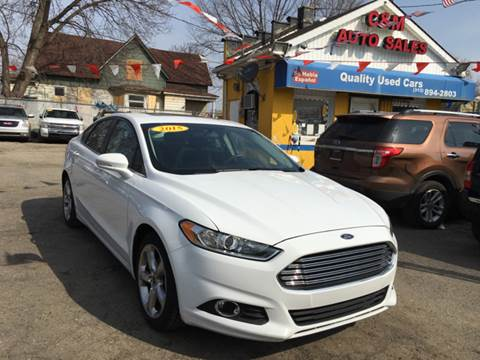 2015 Ford Fusion for sale at C & M Auto Sales in Detroit MI