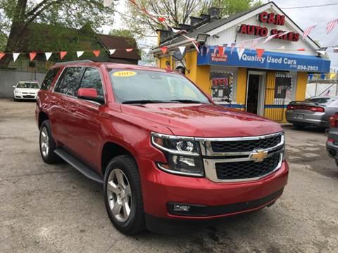 2015 Chevrolet Tahoe for sale at C & M Auto Sales in Detroit MI