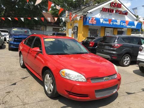 2013 Chevrolet Impala for sale at C & M Auto Sales in Detroit MI