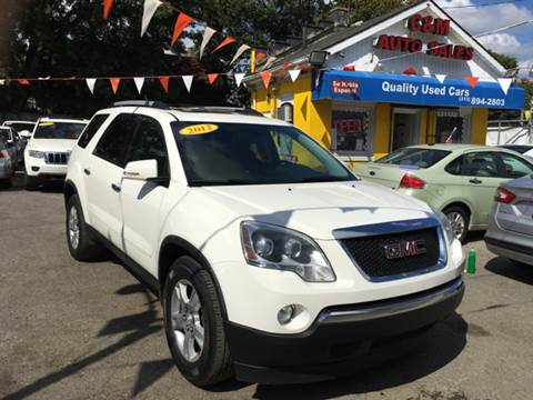 2012 GMC Acadia for sale at C & M Auto Sales in Detroit MI