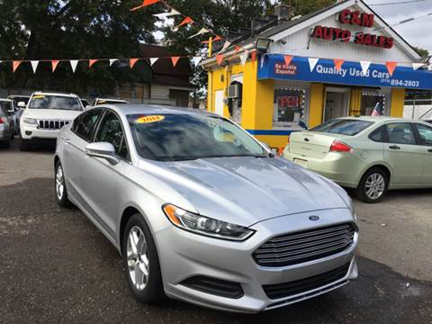 2014 Ford Fusion for sale at C & M Auto Sales in Detroit MI