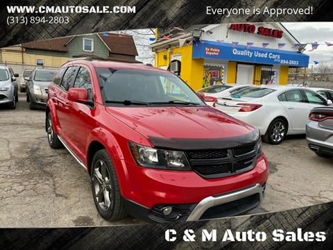 2015 Dodge Journey Crossroad for sale at C & M Auto Sales in Detroit MI