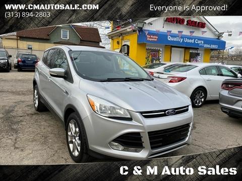 2013 Ford Escape SEL for sale at C & M Auto Sales in Detroit MI