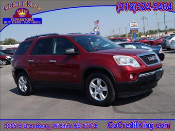 2009 GMC Acadia for sale at Credit King Auto Sales in Wichita KS