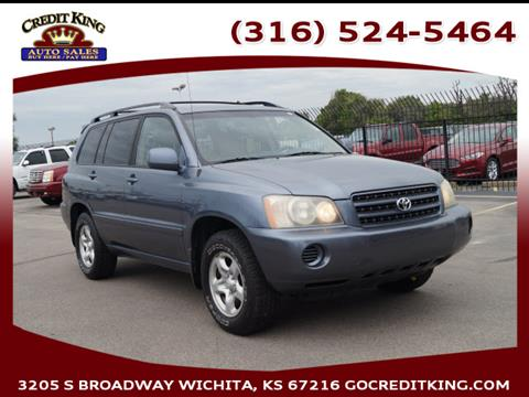 2001 Toyota Highlander for sale at Credit King Auto Sales in Wichita KS