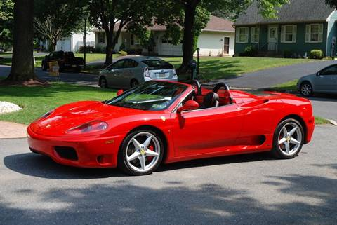 2003 Ferrari 360 Spider for sale at Professional Automobile Exchange in Bensalem PA