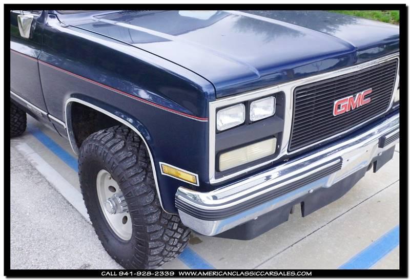 1989 GMC Jimmy 2dr 4WD SUV - Sarasota FL