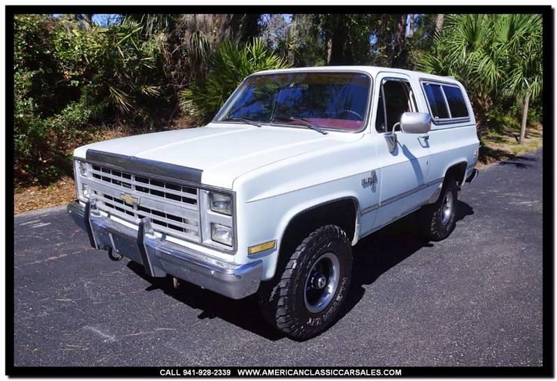 1986 Chevrolet Blazer 2dr 4WD SUV - Sarasota FL