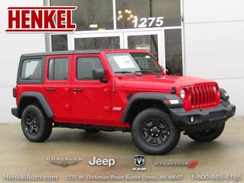 2019 Jeep Wrangler Unlimited for sale in Battle Creek, MI