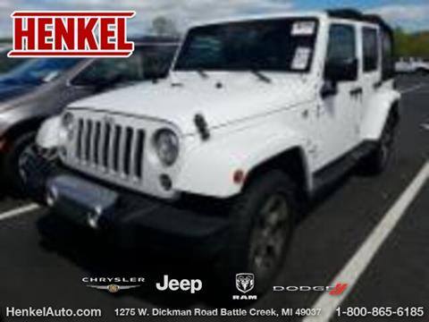 2017 Jeep Wrangler Unlimited for sale in Battle Creek, MI