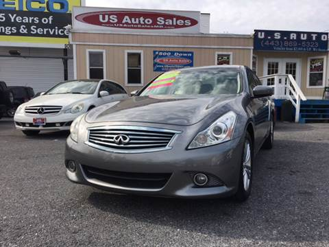 2010 Infiniti G37 Sedan for sale at US AUTO SALES in Baltimore MD