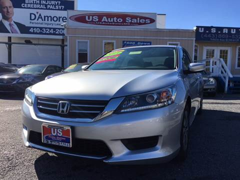 2013 Honda Accord for sale at US AUTO SALES in Baltimore MD