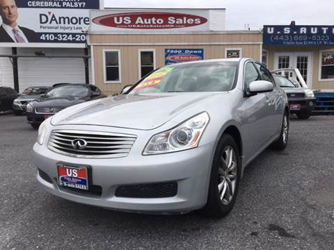2008 Infiniti G35 for sale at US AUTO SALES in Baltimore MD