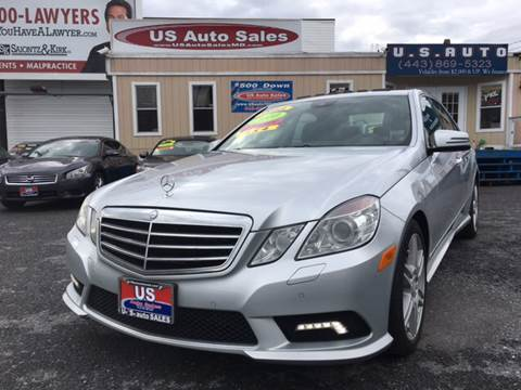 2010 Mercedes-Benz E-Class for sale at US AUTO SALES in Baltimore MD