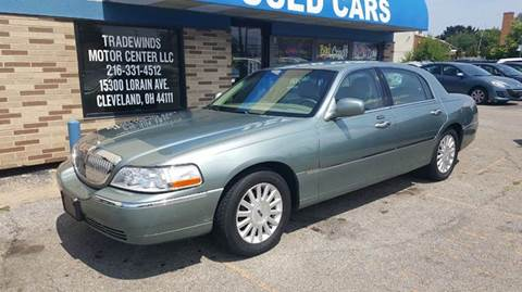 2004 Lincoln Town Car for sale at TRADEWINDS MOTOR CENTER LLC in Cleveland OH