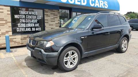 2005 BMW X3 for sale at TRADEWINDS MOTOR CENTER LLC in Cleveland OH