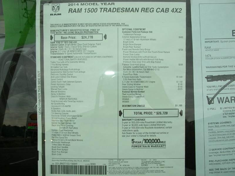 2014 RAM Ram Pickup 1500 for sale at DEWEY'S CAR PALACE INC.  DEWEYS-AUTO in Delton MI