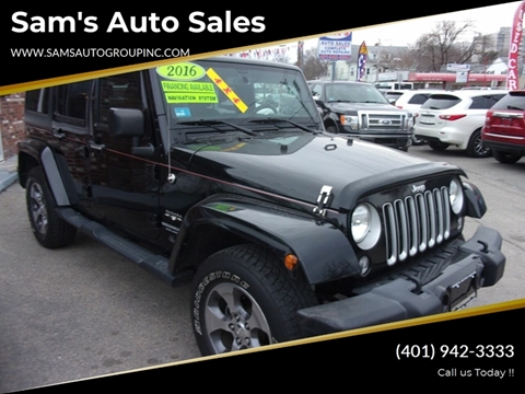 2016 Jeep Wrangler Unlimited for sale in Cranston, RI