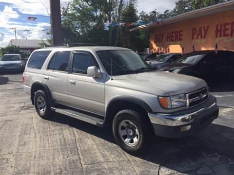 2000 Toyota 4Runner for sale at DREAM CARS in Stuart FL