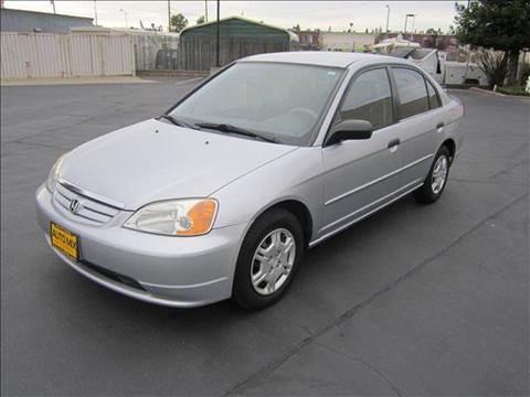 2001 Honda Civic for sale at PRICE TIME AUTO SALES in Sacramento CA