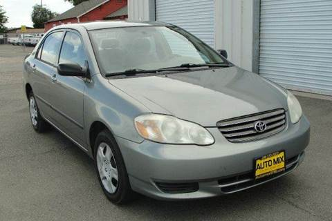2003 Toyota Corolla for sale at PRICE TIME AUTO SALES in Sacramento CA