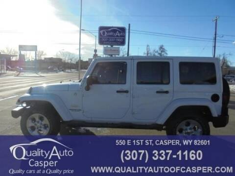 2014 Jeep Wrangler Unlimited Sahara for sale at QUALITY AUTO OF GILLETTE in Gillette nul