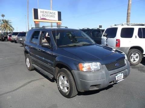 2001 Ford Escape for sale at Heritage Motors in Casa Grande AZ