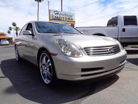 2003 Infiniti G35 for sale at Heritage Motors in Casa Grande AZ