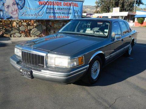 1991 Lincoln Town Car for sale at 1 Owner Car Guy in Stevensville MT