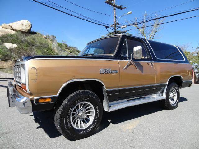 1985 Dodge Ramcharger for sale at 1 Owner Car Guy in Stevensville MT