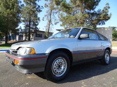 1987 Honda CRX for sale at 1 Owner Car Guy in Stevensville MT