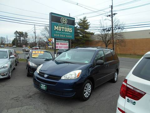 2005 Toyota Sienna for sale at Brookside Motors in Union NJ