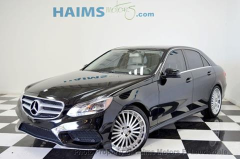 2014 Mercedes-Benz E-Class for sale in Lauderdale Lakes, FL